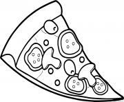 Coloriage pizza napolitaine italien dessin