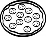 Coloriage pizza pepperoni olive fromage dessin