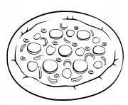 Coloriage pizza fromage fondant dessin