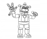 Fnaf Freddy Funtime dessin à colorier