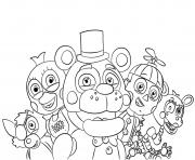 Coloriage Nightmare Bonnie FNAF dessin