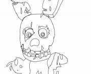 Coloriage freddy s at five nights little monster coloring pages dessin