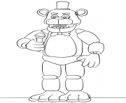 Coloriage five nights at freddys fnaf foxy to color coloring pages dessin