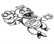 Coloriage minecraft freddy fnaf dessin