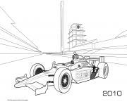 Formule 1 Honda Bsa 2010 dessin à colorier
