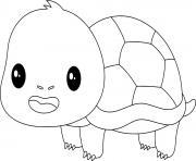 Coloriage tortue sur le dos dessin