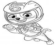 Wildcat Pat Patrouille Moto Pups dessin à colorier