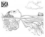 sea monster luca disney pixar dessin à colorier