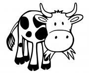 vache qui mange de lherbe dessin à colorier