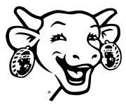 la vache qui rit dessin à colorier