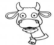 tete de vache avec une cloche dessin à colorier