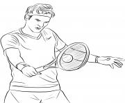 Coloriage une fille joue au tennis dessin