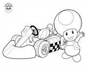Coloriage mario kart ancienne voiture dessin