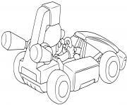 mario kart 8 deluxe voiture de course dessin à colorier