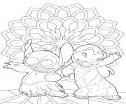 Coloriage lilo et stitch dessin