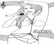chanteuse shakira star de la musique dessin à colorier