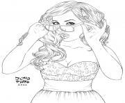 lunette swag girl fille ado 16 ans dessin à colorier