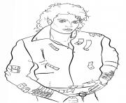 michael jackson celebrite star dessin à colorier