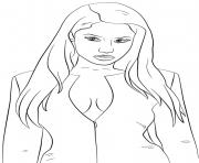 nicki minaj celebrite star dessin à colorier
