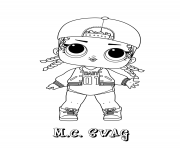fille ado lol dolls MC swag dessin à colorier