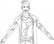 kendji girac chanteur star de la musique francaise dessin à colorier