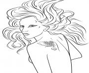 lady gaga celebrite star dessin à colorier