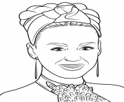 katy perry celebrite star dessin à colorier