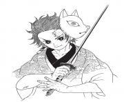 Coloriage Zenitsu in a shirt demon slayer dessin