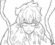 Coloriage Nezuko and Tanjiro Kamado demon slayer dessin