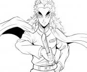 Coloriage Strong Nezuko demon slayer dessin