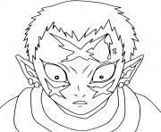 Coloriage Sabito without mask demon slayer dessin