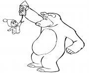 les feux dartifices avec ours michka dessin à colorier