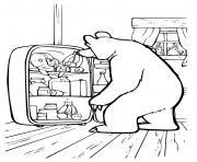 ours michka a une petite faim dessin à colorier
