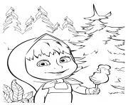 masha veut faire une betise dessin à colorier