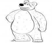 ours michka est tres gentil dessin à colorier