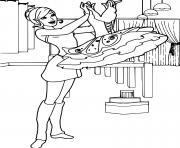Coloriage une petite fille qui danse dessin
