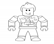Coloriage Roblox studio angry player dessin
