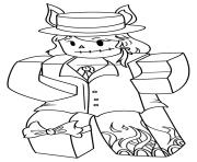 Coloriage roblox knight dessin