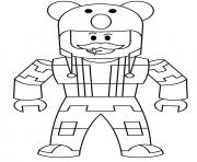 Roblox character men dessin à colorier