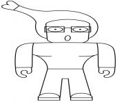 Weird Roblox Character Human dessin à colorier