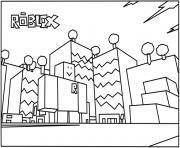 roblox building coloring page dessin à colorier