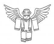 Coloriage roblox angel dessin