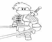 roblox ninja dessin à colorier