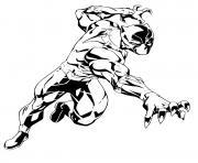panthere noire de marvel comics dessin à colorier
