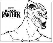 Marvel Black panther dessin à colorier