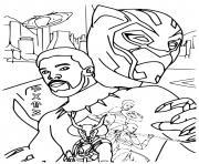 Roi Wakanda Black panther dessin à colorier
