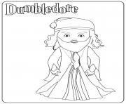 Dumbledore dessin à colorier