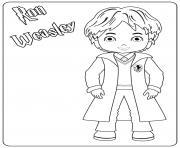 Ron Weasley dessin à colorier