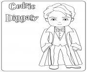 Cedric Diggary dessin à colorier