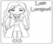 Luna Lovegood dessin à colorier